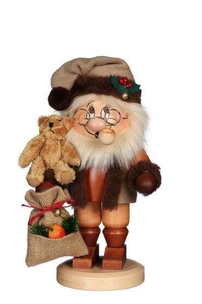 Ulbricht Wichtel Räuchermännchen Weihnachtsmann mit Teddybär, 28 cm