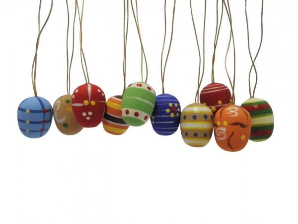 Ostereier, handbemalt, 10 Stück, 2 cm, Nestler-Seiffen.com OHG Seiffen/ Erzgebirge