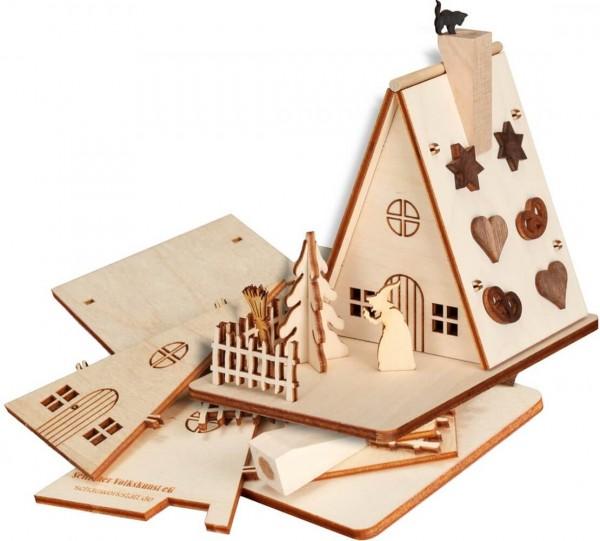 Bastelset Räucherhaus Hexenhaus aus Holz zum selber bauen