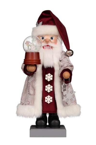 Premium Nussknacker Weihnachtsmann mit Schneekugel, 47 cm von Christian Ulbricht GmbH & Co KG Seiffen/ Erzgebirge