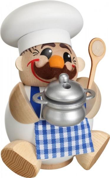 lustige Räucherfigur mit Topf und Kochlöffel