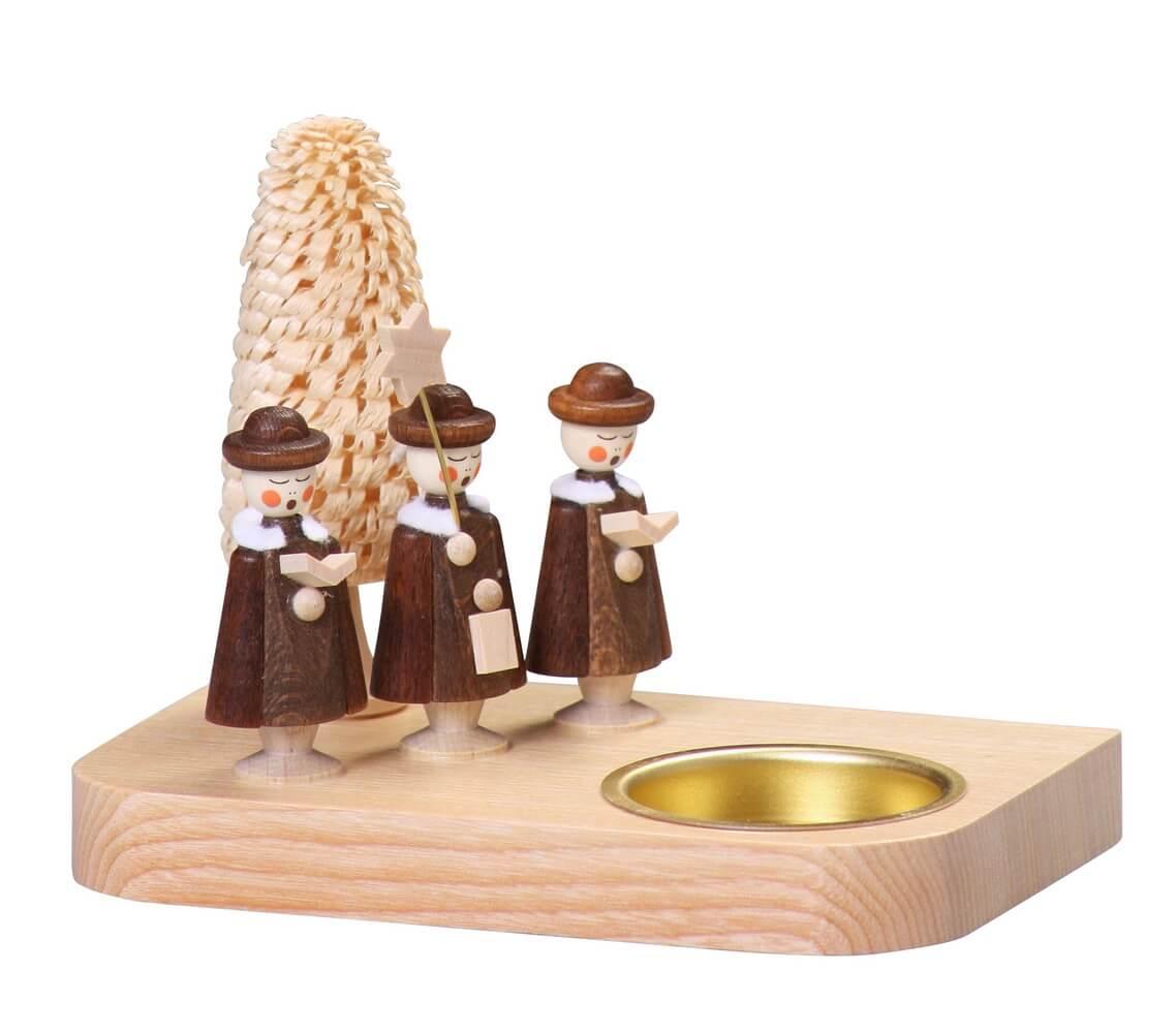 Teelichthalter mit Kurrende, 13 cm von Thomas Preißler