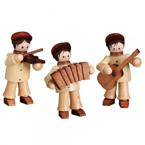 Bringen Sie Stimmung ins Haus, mit den 3 Lustige Musikanten in natur von Romy Thiel Deutschneudorf/ Erzgebirge. Das gute Musik fröhlich macht, sieht man …