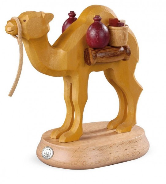 handgeschnitztes Kamel für den Räuchermann Araber von Müller Kleinkunst aus Seiffen