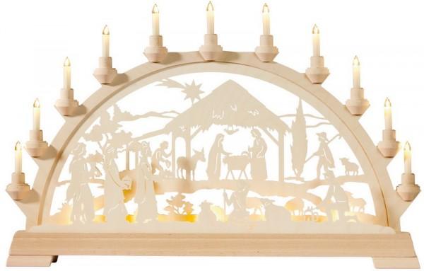 Schwibbogen Christi Geburt mit Königen, 65 cm von KWO
