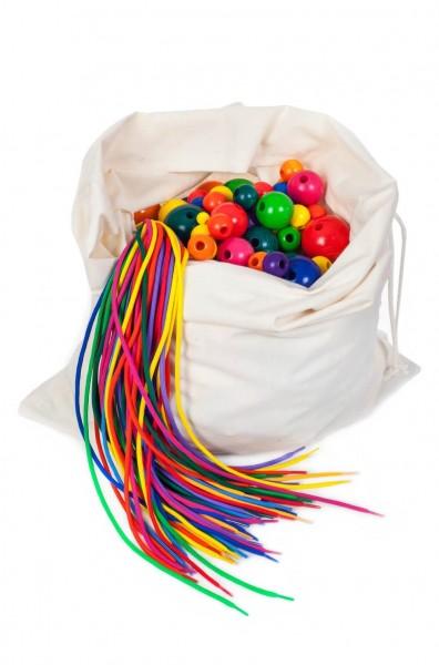 Der Fädel - Sack als Kindergartenpackung von SINA Spielzeug Neuhausen/Erzgebirge, sorgt für mehr Freude am Spielen. Natürlich kann man auch zu Hause viel Spaß …