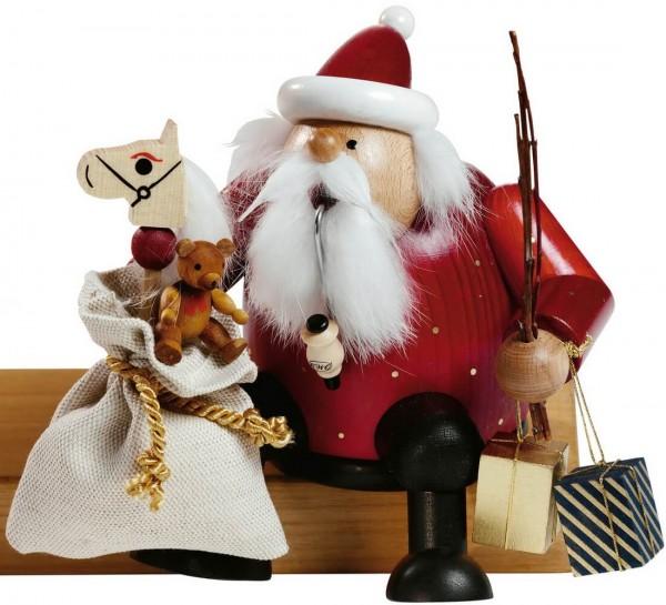 Räuchermännchen Kantenhocker Weihnachtsmann, 15 cm von KWO Kunstgewerbe-Werkstätten Olbernhau/ Erzgebirge