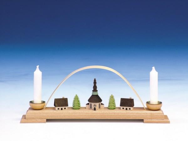 Schwibbogen mit Seiffener Kirche, 26 cm, Knuth Neuber Seiffen/ Erzgebirge