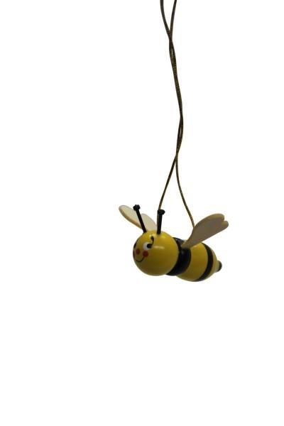 Bienen zum hängen, 5 Stück, bunt bemalt 3 cm, Nestler-Seiffen.com OHG Seiffen/ Erzgebirge