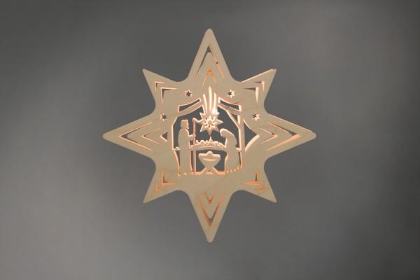 Weihnachtlicher Fensterschmuck & beleuchtetes Fensterbild Stern Christi Geburt, elektrisch beleuchtet, 31 x 31 x 5 cm von Weigla - Günter Gläser …