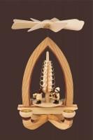 Vorschau: Weihnachtspyramide mit Striezelkinder, natur, 28 cm hergestellt von Heinz Lorenz Olbernhau/ Erzgebirge_Bild2