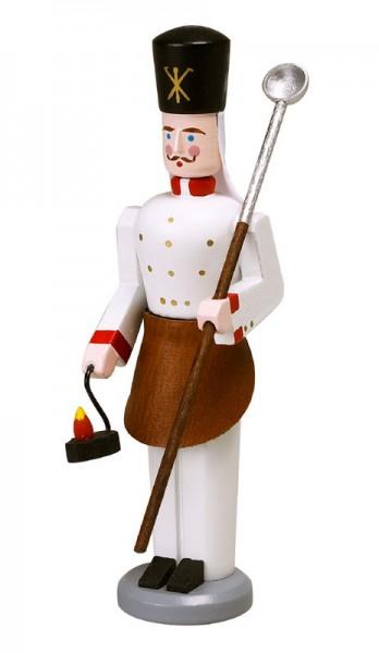 Erzgebirgischer Bergmann Hüttenarbeiter, handbemalt und in Handarbeit gefertigt, 13 cm von Volkskunstwerkstatt Eckert aus Seiffen/ Erzgebirge