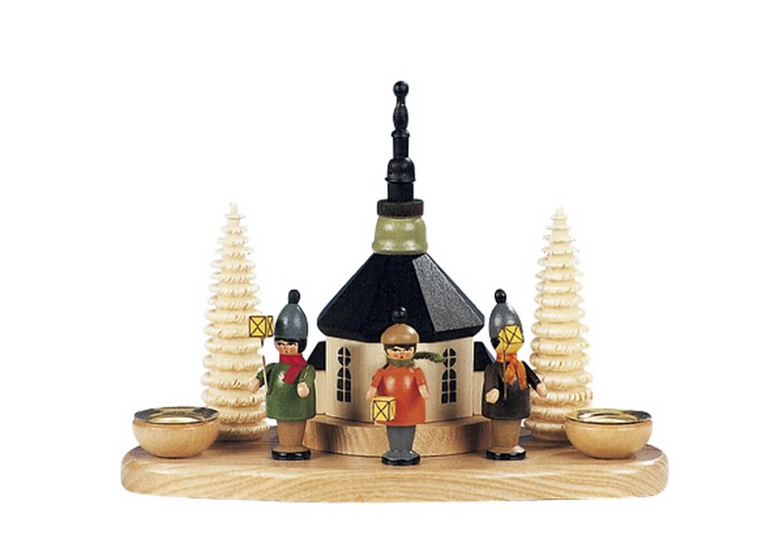 Knuth Neuber, Kerzenhalter Seiffener Kirche mit Laternenkinder