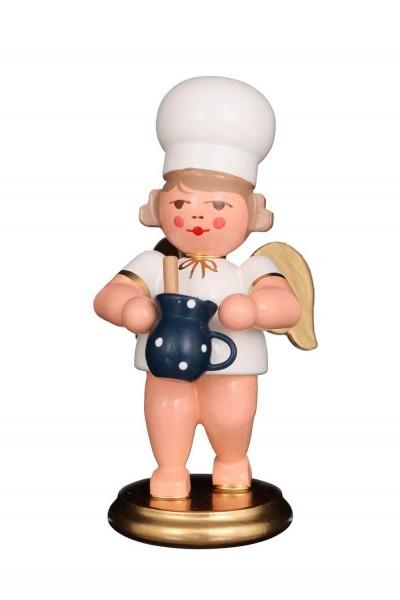 Weihnachtsengel - Bäckerengel mit Milchtopf, 8 cm von Christian Ulbricht GmbH & Co KG Seiffen/ Erzgebirge