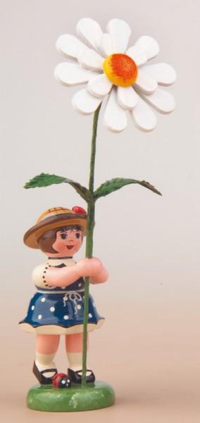 Blumenkind mit Margerite, 11 cm, Hubrig Volkskunst GmbH Zschorlau/ Erzgebirge