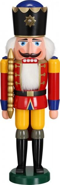 Darf ich vorstellen, Ihre Majestät Nussknacker König in rot, 38 cm von Seiffener Volkskunst eG aus Seiffen/ Erzgebirge. Dienten früher die Nussknacker oder …