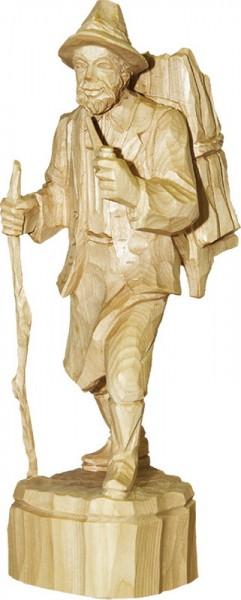 Waldmann mit Pfeife, natur, geschnitzt, in verschiedenen Größen