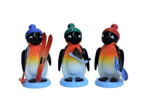 Pinquine - Wintersportler, 3 Stück, farbig, 6 cm, Nestler-Seiffen_Bild1