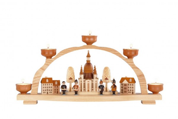 Knuth Neuber, Schwibbogen Frauenkirche Dresden für Teelichter_Bild1