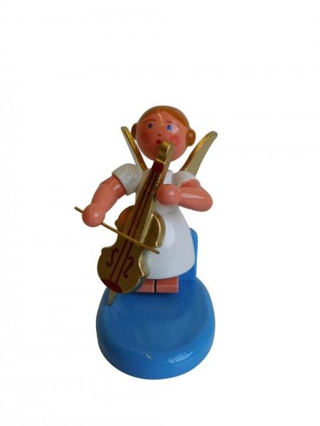 Weihnachtsengel mit Cello, 6 cm von WEHA-Kunst Dippoldiswalde/ Erzgebirge