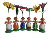 Vorschau: Blumenkinder von WEHA-Kunst Mädchen, 6 Stück, 11 cm_Bild3