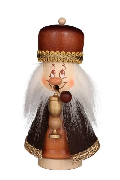 Räuchermännchen Miniwichtel Melchior mit dem freundlichen Gesicht und der typischen Knubbelnase von Christian Ulbricht GmbH & Co KG Seiffen/ …