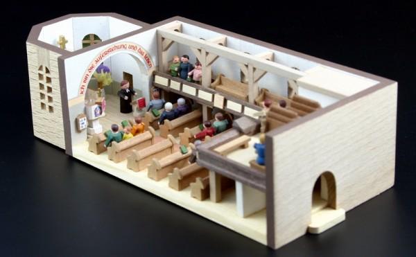 Miniaturstübchen Dorfkirche von Gunter Flath aus Seiffen / Erzgebirge Detailgetreue Nachbildung einer Dorfkirche aus früheren Zeiten. Diese Kirche wurde in …