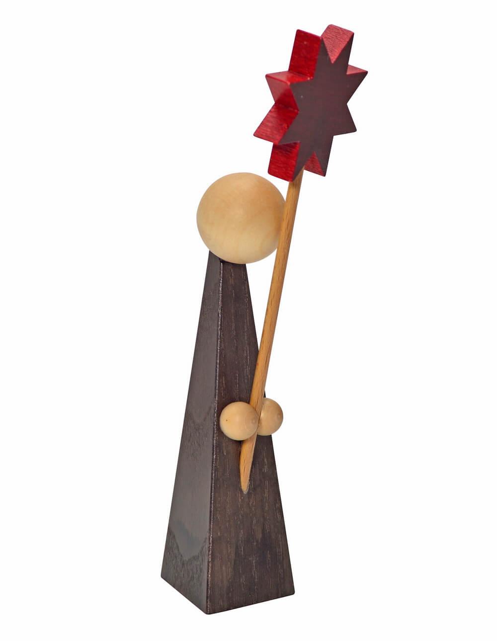 KWO Kurrendefigur mit Stern aus dem Erzgebirge