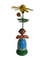 Vorschau: Blumenkinder - Feld- und Wiesenblumenkind Mädchen mit Margerite, 11 cm von WEHA-Kunst Dippoldiswalde/ Erzgebirge