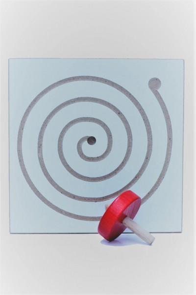 tolles Gedulds-und Geschicklichkeitsspiel Kreiselbrett Spirale