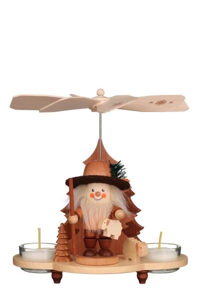 Weihnachtspyramide Schäfer, natur, 20 cm von Christian Ulbricht GmbH & Co KG Seiffen/ Erzgebirge