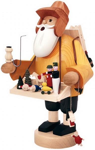 Räuchermännchen Spielzeughändler, 35 cm von KWO Kunstgewerbe-Werkstätten Olbernhau/ Erzgebirge