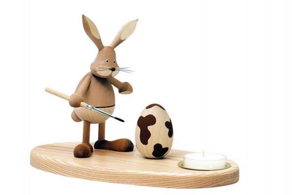 Knuth Neuber, Osterkerzenhalter Hase stehend, natur