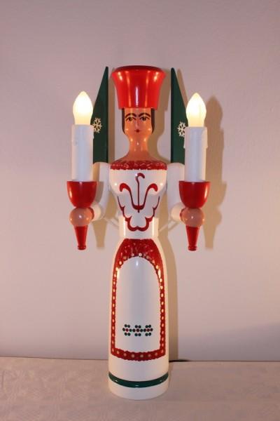 Weihnachtsengel, bunt, elektrisch beleuchtet und mit eigenem Trafo, 50 cm von Nestler-Seiffen.com OHG Seiffen/ Erzgebirge