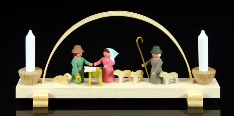 """Miniaturschwibbogen """"Christi Geburt"""" von Gunter Flath aus Seiffen / Erzgebirge Traditionell detailgetreue Nachbildung einer Krippenstube aus früheren Zeiten. …"""