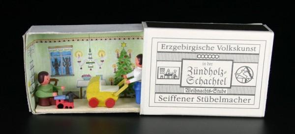 Zündholzschachtel Weihnachtsstube von Gunter Flath aus Seiffen / Erzgebirge Detailgetreue Nachbildung einer Weihnachtsstube aus früheren Zeiten. Dieses Motiv …