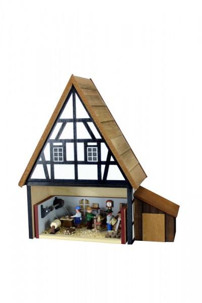 Fachwerkhaus zum Einstellen von Miniaturstübchen von Gunter Flath aus Seiffen / Erzgebirge Eine wunderschöne Idee seine Miniaturstübchen stilvoll zu …