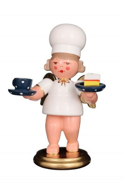 Weihnachtsengel - Bäckerengel mit Tasse, 8 cm von Christian Ulbricht GmbH & Co KG aus Seiffen im Erzgebirge