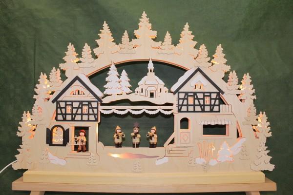 Schwibbogen Seiffener Weihnacht von Romy Thiel