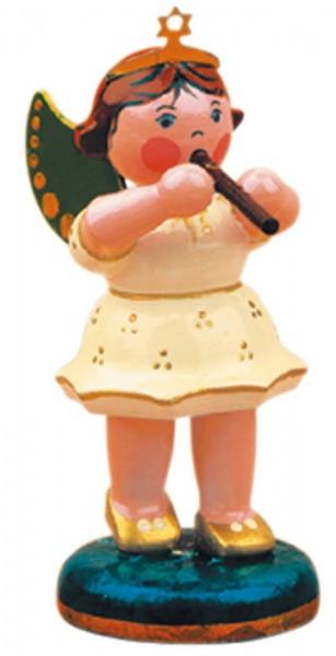 Weihnachtsengel aus Holz mit Flöte von Hubrig