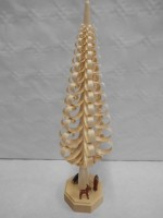 Vorschau: Spanbaum Waldidyll mit Rehen, 30 cm, Falko Beyer Seiffen/ Erzgebirge